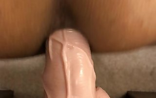 Cock enjoying imitation with my dildo