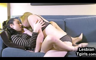 Tgirl Assfucks Her Teen Trap GF!