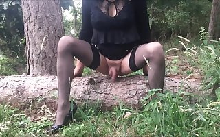 Outdoor Dildo Riding