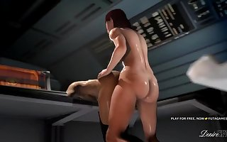HARD FUTA  WITH MIRANDA MASS EFFECT 3D FUCK