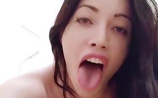 Stroking my TS cock on bedroom floor ;) Sasha de Sade hard tranny dick