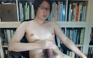 Asian tgirl miki big cumshot